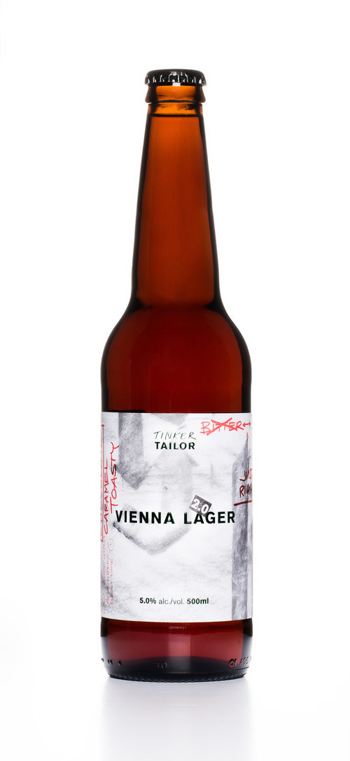 Vienna Lager craft beer Tinker Tailor bottle