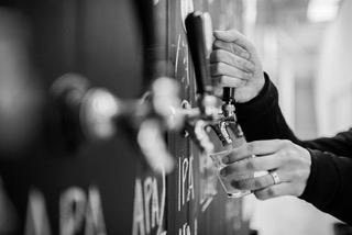 craft beer taps at Tinker Tailor brewery cellar door