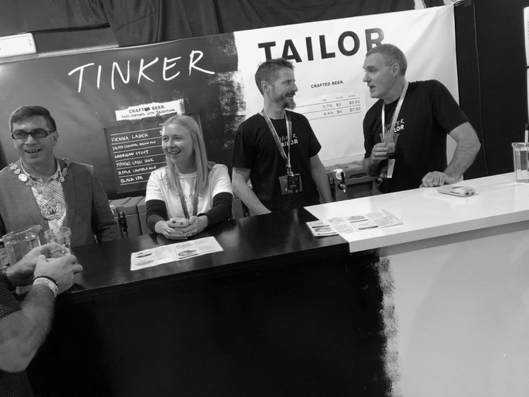 Beervana craft beer festival Tinker Tailor stand
