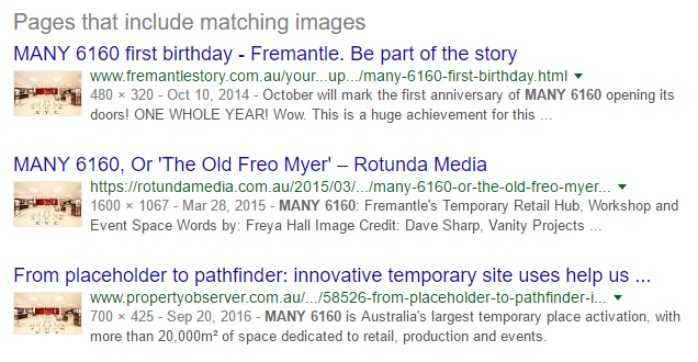 By reaching out to websites that had used my photos of MANY 6160, I got 20 new backlinks.