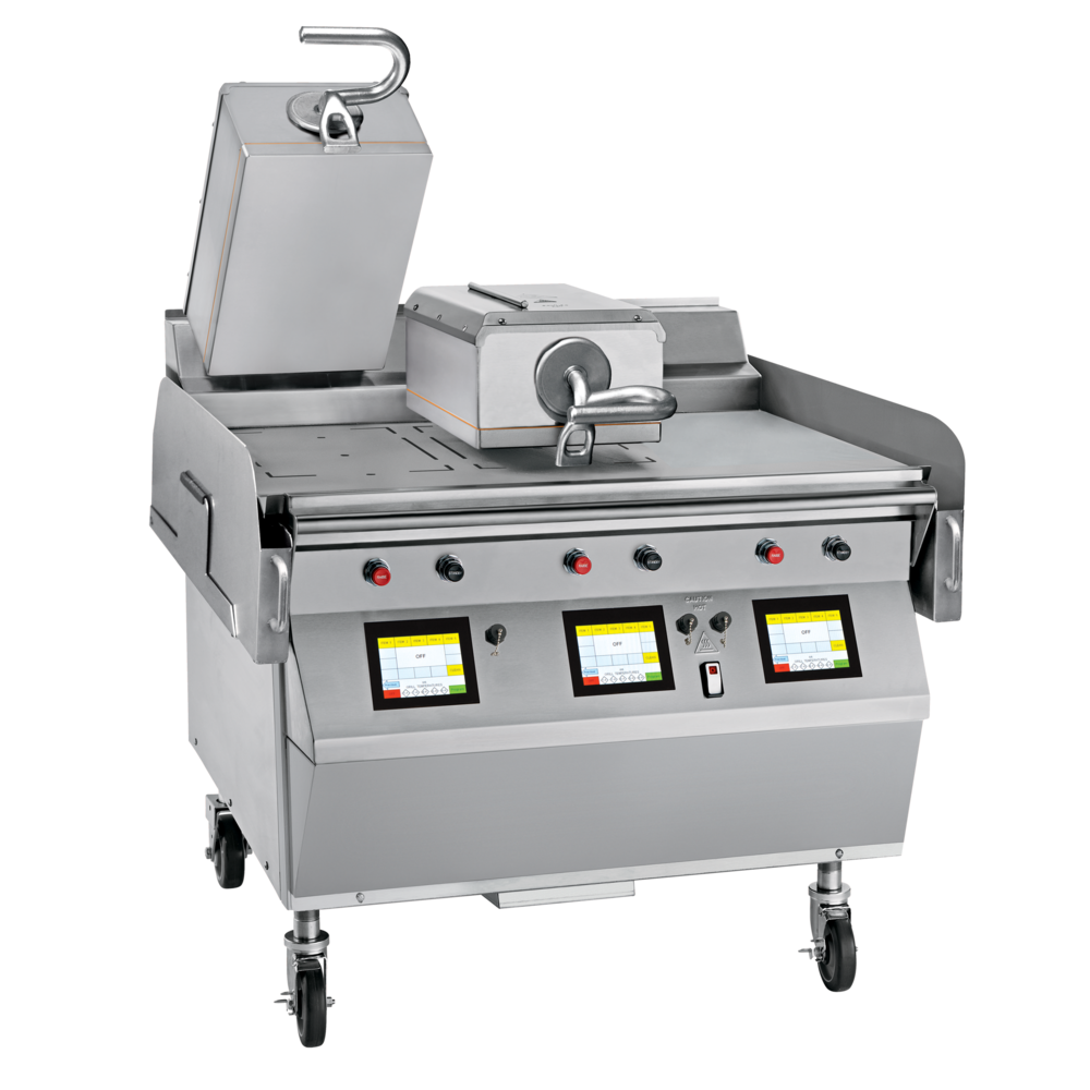 "Model L813 GAS/ELECTRIC 2 PLATEN 36"" GRILL One touch menu selection automatically provides accurate TIME, TEMPERATURE and GAP settings for every product. KEY SPECIFICATIONS: Lower Cooking Surface Heat Source: Gas Upper Platen Heat Source: Electric Cooking Surface Dimensions: 36"" Installation: Floor Model Upper Platens: 2"