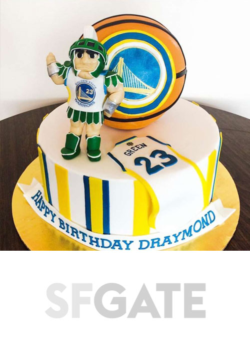 See the amazing birthday cakes this San Francisco baker makes for the Warriors