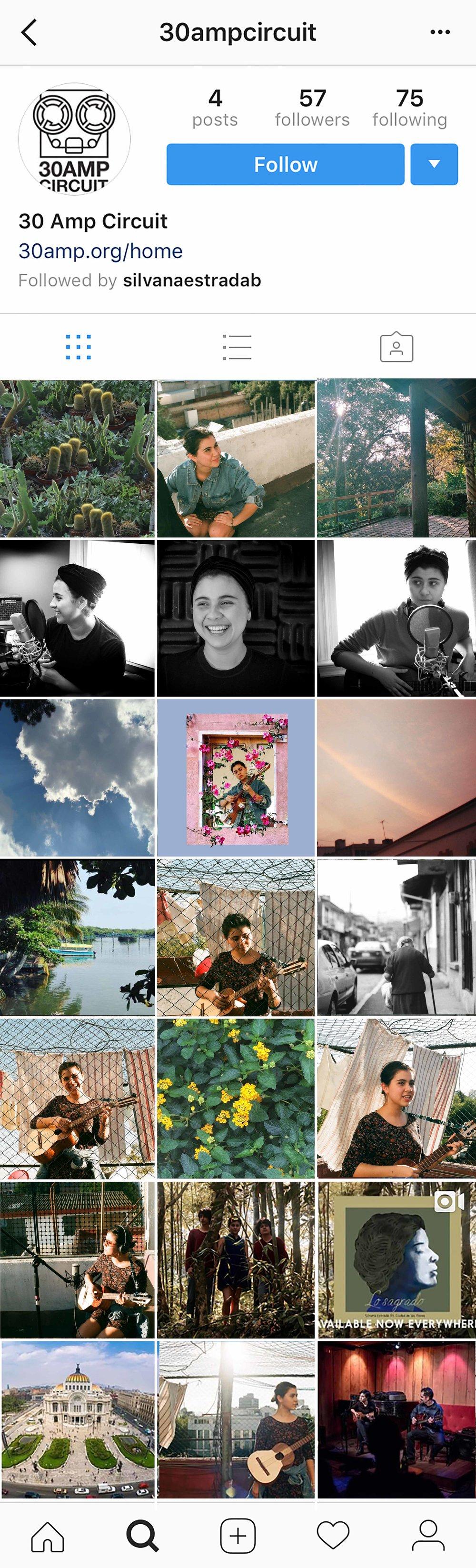 Mock instagram concepts for 30 Amp