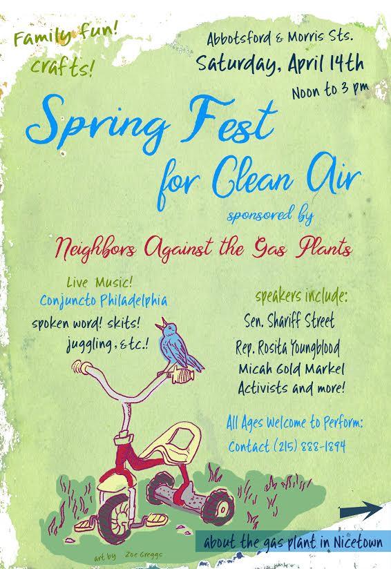 Spring festival flyer designed by Zoë Greggs