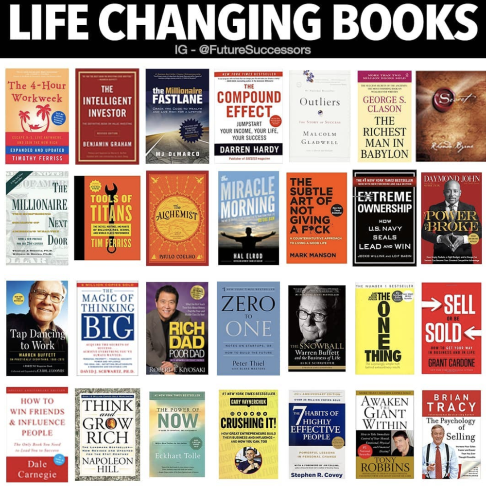 """Life Changing Books"" based on hundreds of submissions"