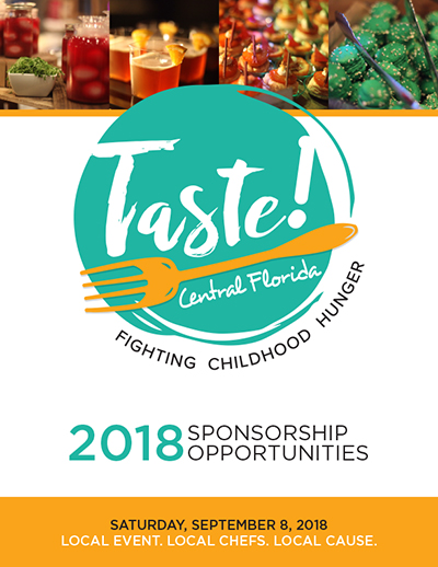 View the 2018 Taste! Central Florida sponsorship packet.