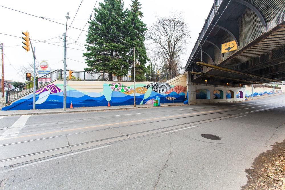 Gerrard Street East Underpass Mural