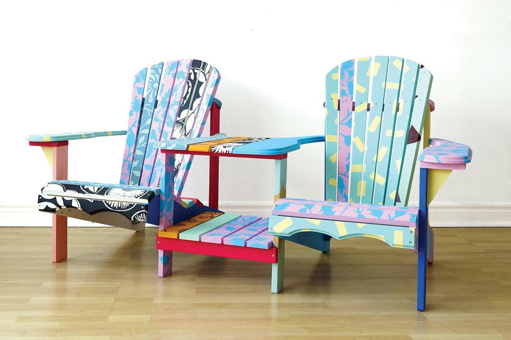 Patterned Adirondack Chairs