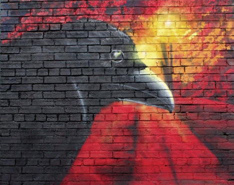Mural of Crow - Calgary, AB