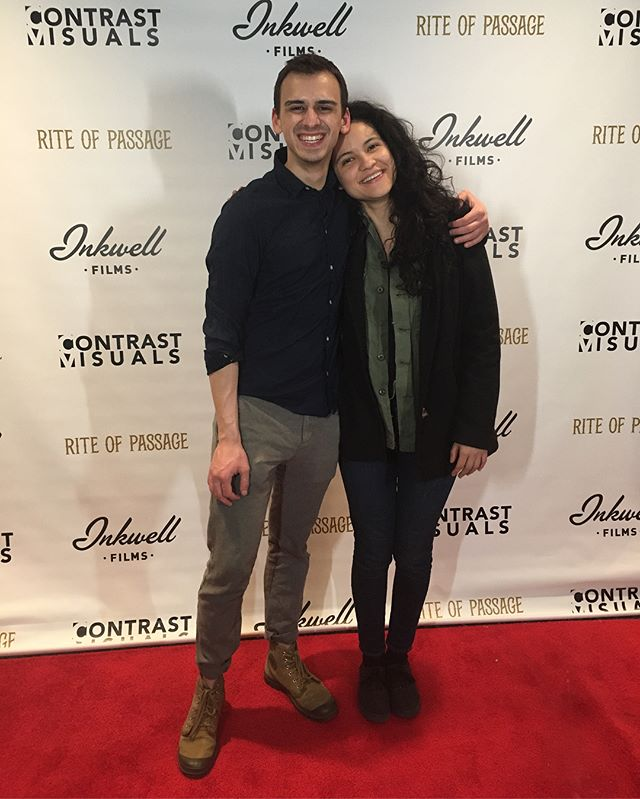 I'm so proud to see my friends' premiere of their short film Rite Of Passage! I know they all worked so hard to make their ideas a reality. Can't wait for more! #supportart #supportyourfriends #RiteOfPassage #inkwellfilms