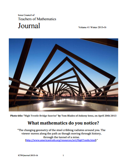 ICTM Journal Winter 2015-2016