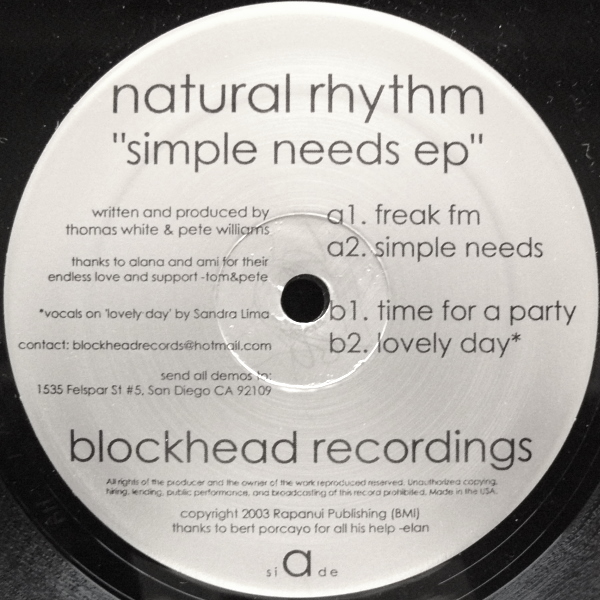 Simple Needs EP Blockhead Recordings (2003)