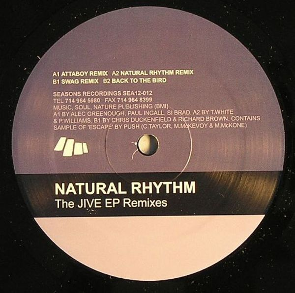 "Natural Rhythm ""Jive Remixes Seasons Recordings (2000)"