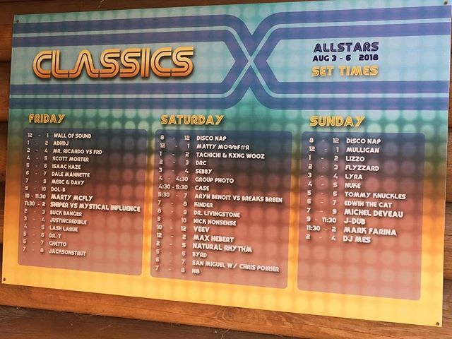 Another awesome weekend at Classics🎧🕺❤️💥💃🥓🇨🇦⛈🍕