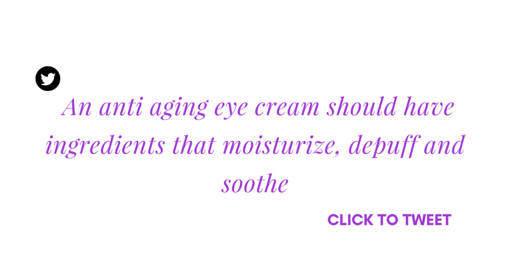 we formulated anti aging eye cream