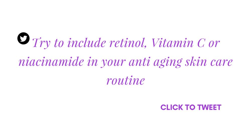 anti aging retinol vitamin c niacinamide