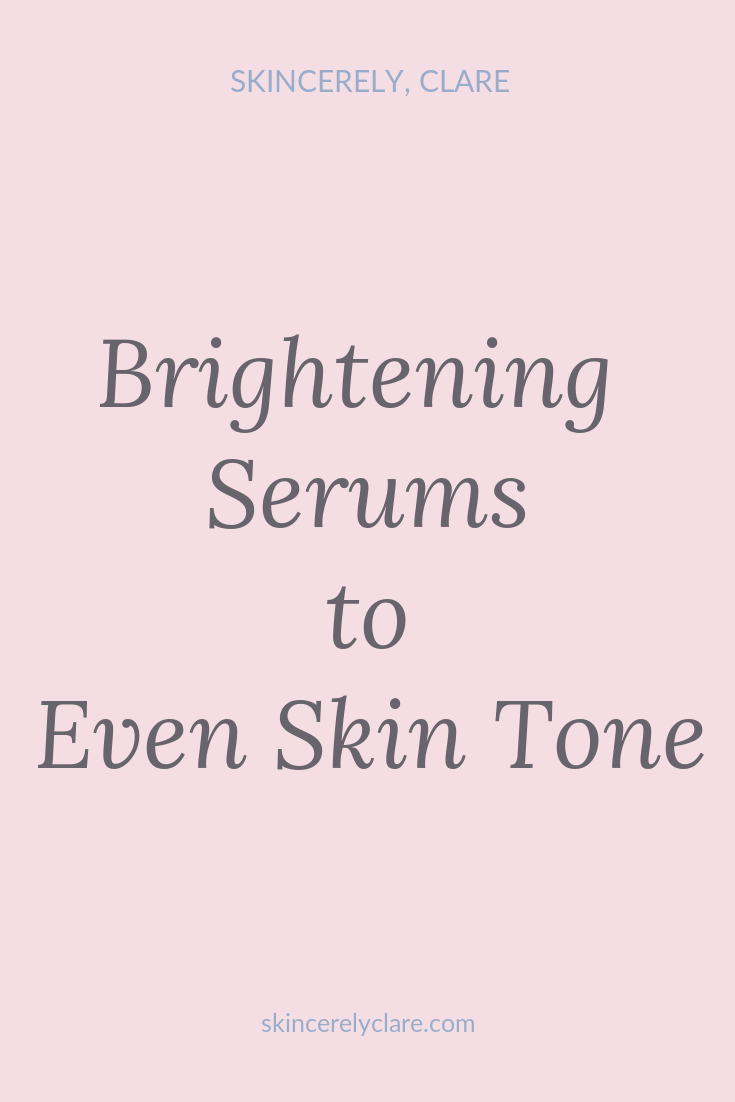 serums to clear dark spots