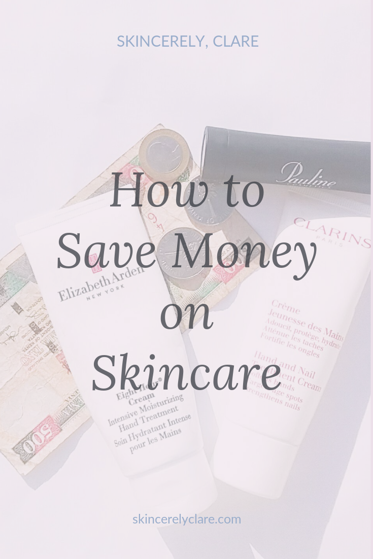 how to save money on skin care