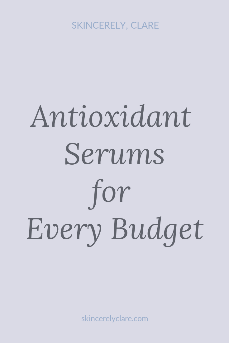 antioxidant serums for face with vitamin c, retinol niacinamide