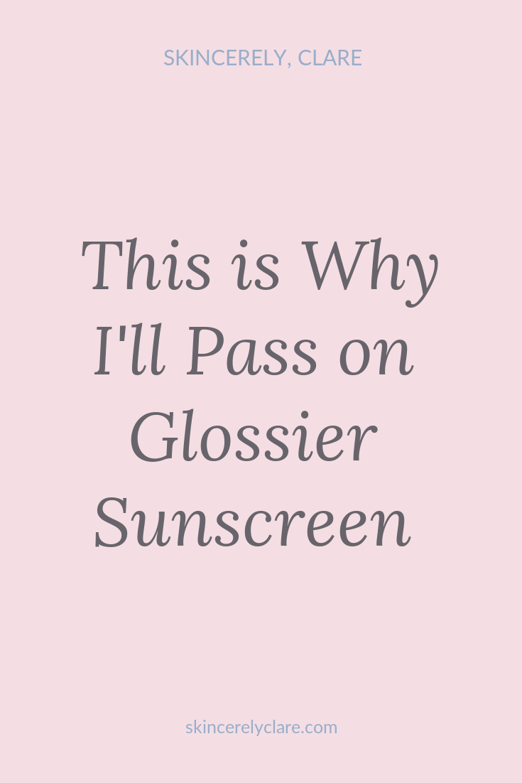 glossier sunscreen pinterest