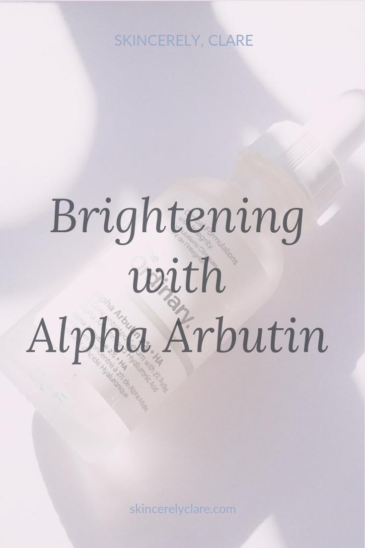 Brightening with Alpha arbutin