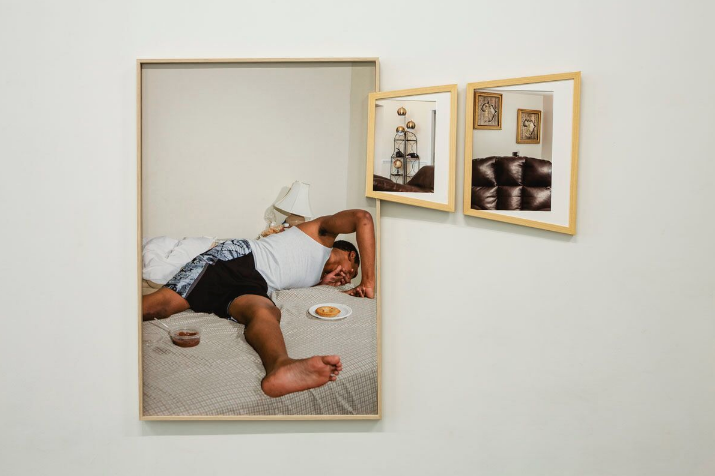 Brown, Jr., Elliott Jerome, Low tack _ One corner in daddy's living room _ One corner in mommy's living room, 2017_2018, Digital inkjet print, 43x51 inches, framed.png