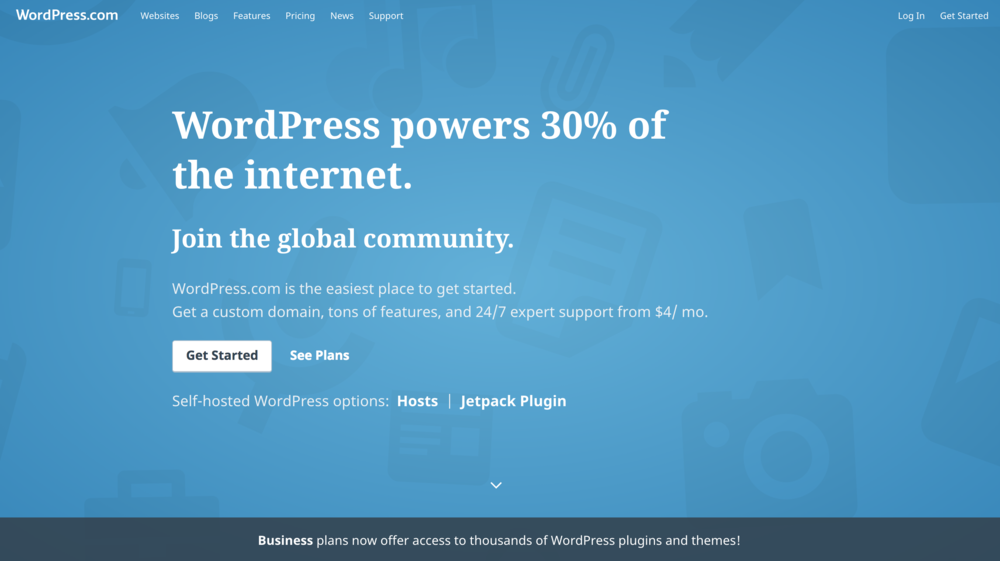 Wordpress 2009.