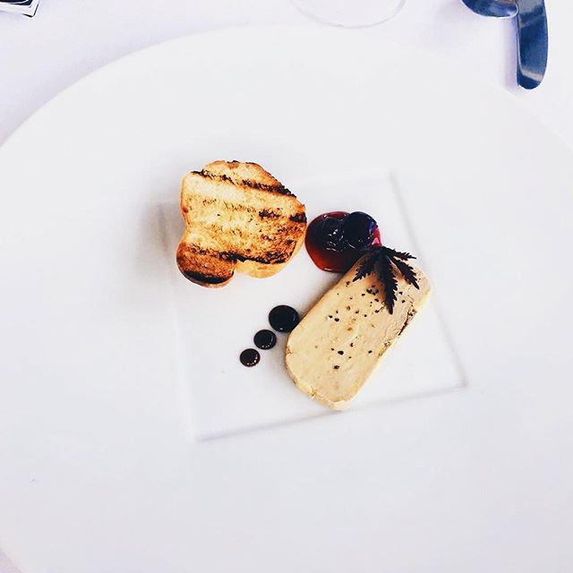 Take me back to Bali. 😢 Foie gras terrine, sour cherry, wild berries and balsamic reduction. 🤤 . . #bloggerlife #travelers #bloggers #iphonephotography #food #foodie #foodporn #wheninbali #delicious #fancyfood #lifestyle #lifestyleblogger #luxury #foodphotography #travels #travelling #plating