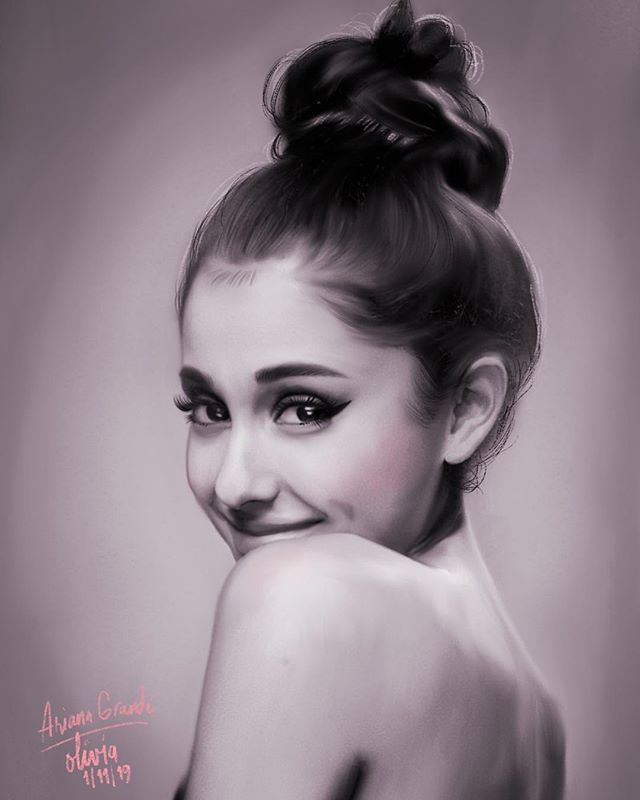 Ariana and her music have always been present in my life, whether it's to help me through a stressful situation, celebrate happy moments, or just have an afternoon of pure bliss and appreciation for her talent. ❤️🥰 I love you @arianagrande 😊 . #arianagrande #fanart #celebrity #GodIsAWoman #portraits #portrait #illustration #procreate #procreateapp #drawingoftheday #artoftheday #painting #digitalart #digitalpainting #drawing #instaart #inspiration