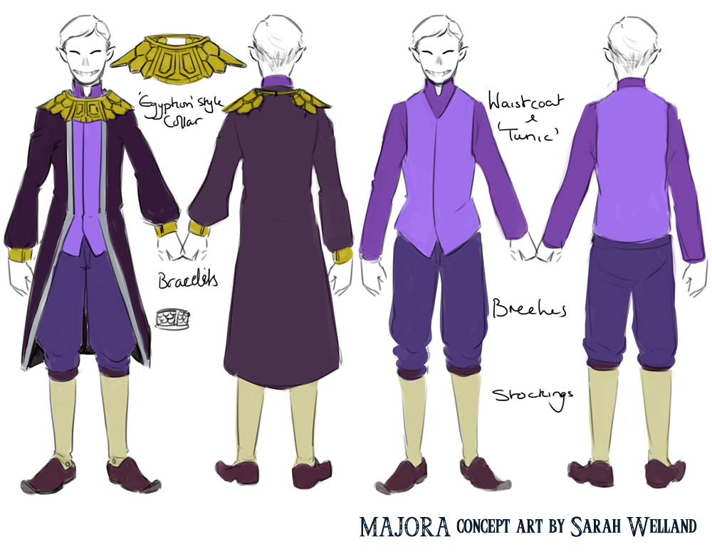 Happy mask salesman costume design 1 RD C