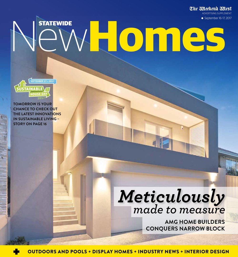 Making the front page of The West Australian New Homes Magazine ...