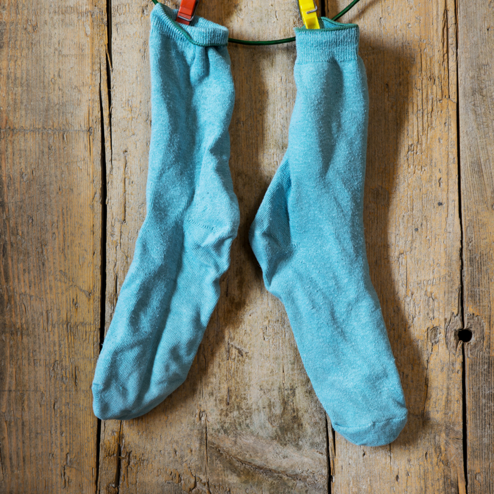Socks + Rice - Filling a tube sock with rice and popping it in the microwave creates an easy, instant heating pad. Place the warm sock where it hurts and wait for sweet relief.