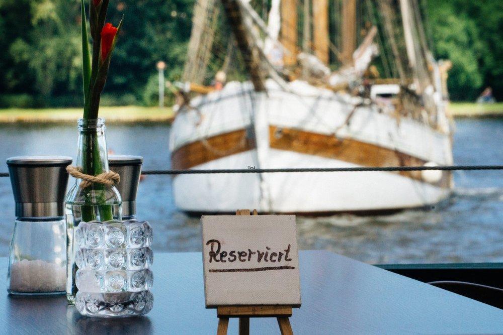 reserviert auf Otto´s Restaurantschiff