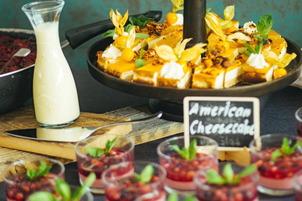Dessertbuffet - Leckere Süßspeisen zum verwöhnen.