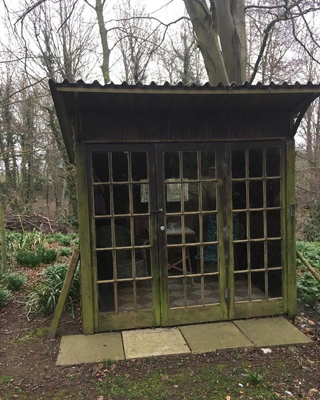 Now ... this is my latest project ❤️... a beautiful, tiny, hand built summer house - deep in private woodland ... exclusive.... cocktails and birdsong for a discerning owner and lucky guests ... we have plans! . . .  #outsidespace #woodland #finewine #design #art  #birdsong #interiordesign #suffolk #wildlife #conservation #preservation #sculpture #music