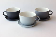 Linum tea cup with handle Ø 9cm, 2006