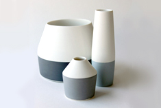 Seam vases height 8 to 16cm, 2009-11