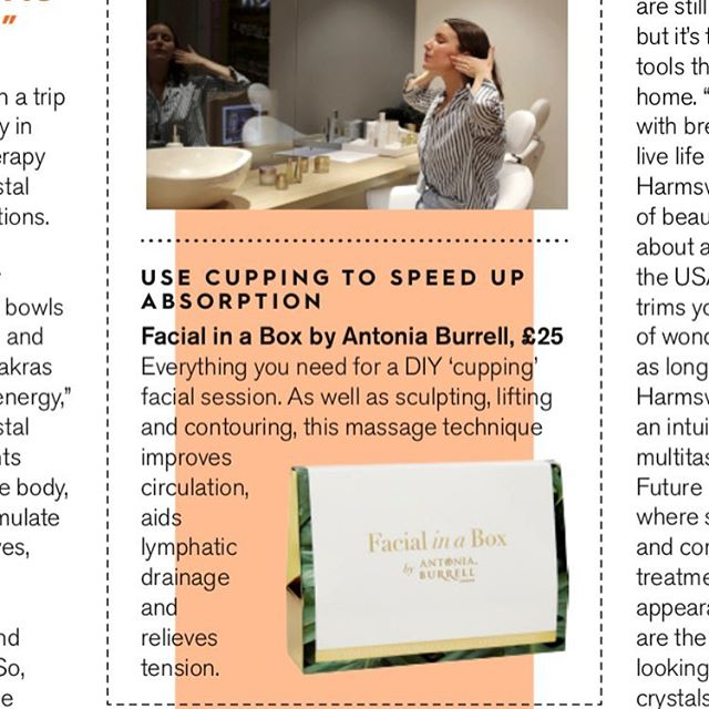 A look at the new self-care treatments in @stylistmagazine feat. Facial in a Box by Antonia Burrell 💚