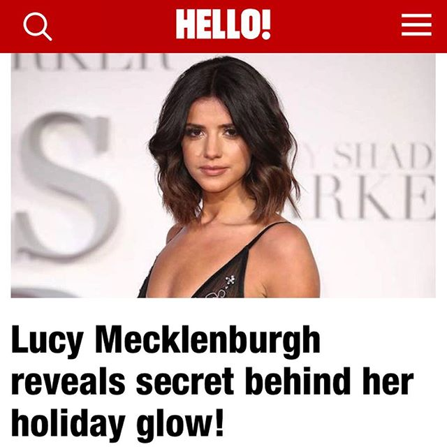 Find out the secret behind Lucy Mecklenburgh's flawless skin on @hellomaguk ✨ (spoiler: it's Crystal Clear H20 Glow)
