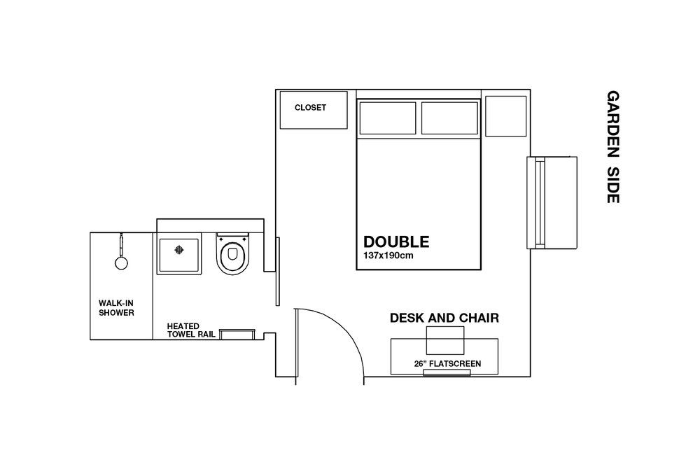 boutique b&b london floorplan