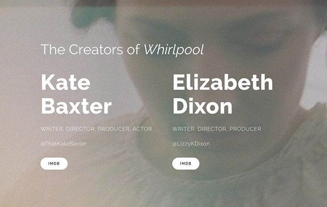 Did you know that #WhirlpoolFilm was written, directed and produced by two people??? That's right! Kate Baxter & Elizabeth Dixon are the culprits, who are now finalising a #featurefilm #script about #HelenKeller #DigIt Five Fifty Five