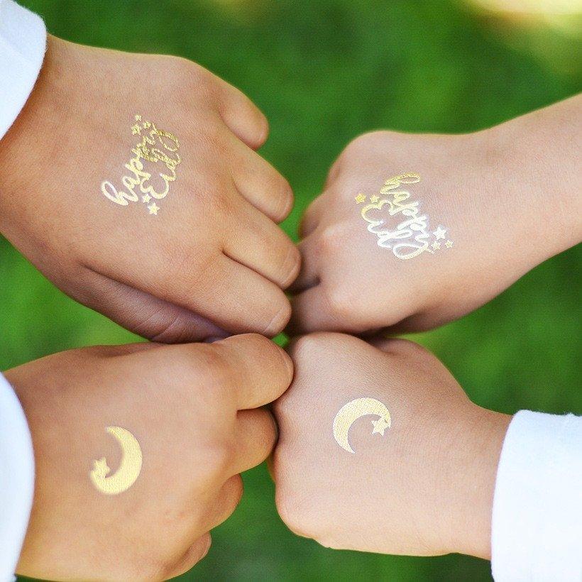 Gold Eid Tatoos