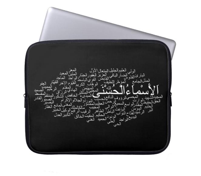 99 names laptop sleeve