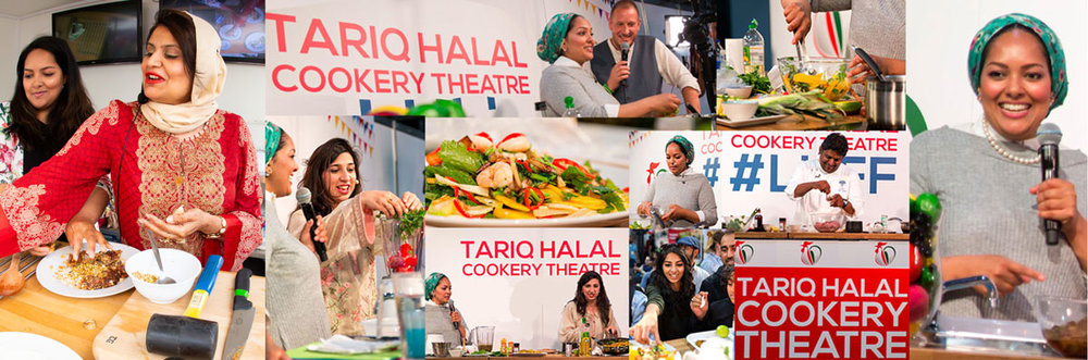 Watch live cookery demos with expert celebrity chefs at The Tariq Halal Cookery Theatre at London Halal Food Festival 2018, Tobacco Dock, 11th-12th August 2018. Entry to cookery theatre included in all festival entry tickets. Buy Tickets now