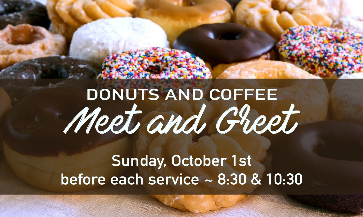 Donuts Coffee Meet And Greet Logos Community Church