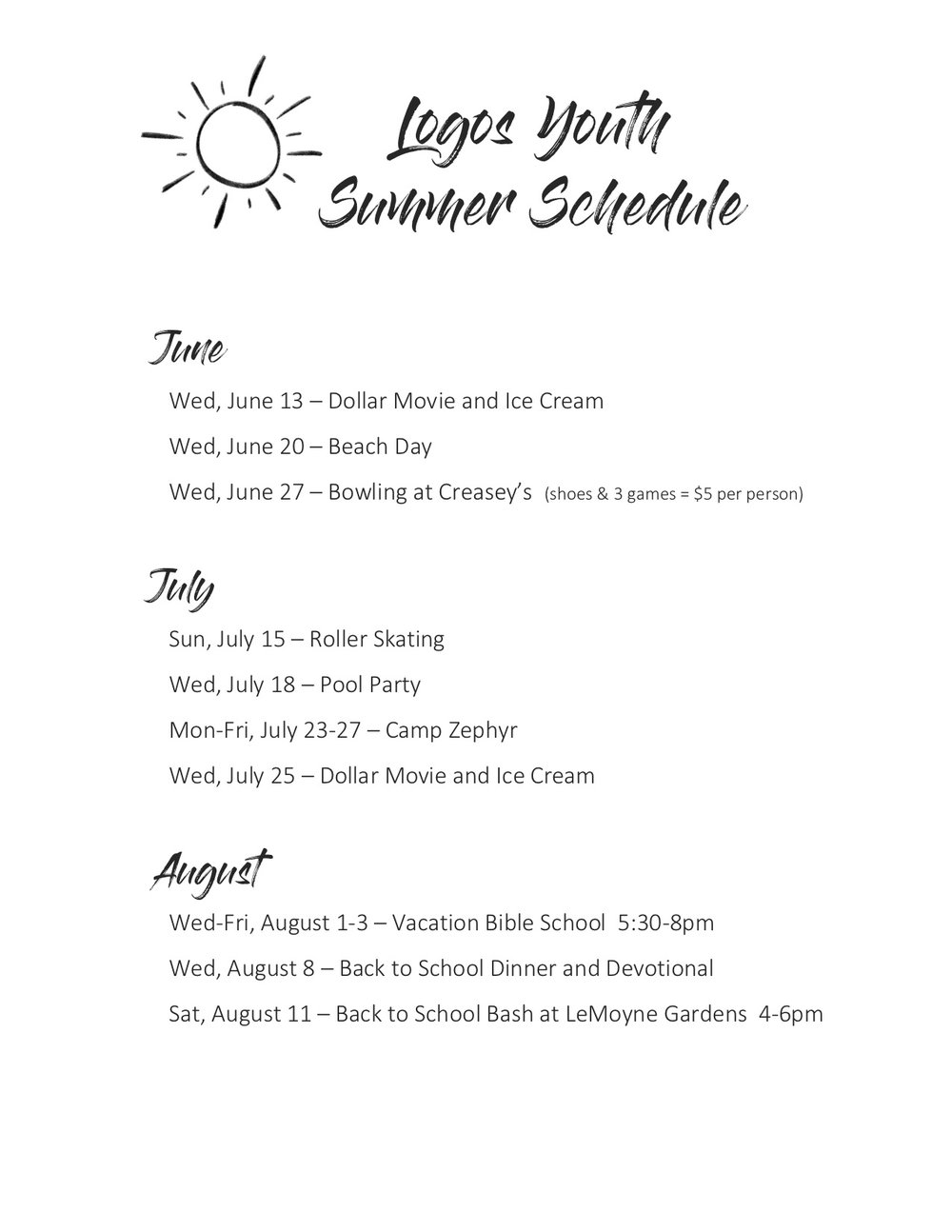 Logos Youth Summer Schedule.jpg