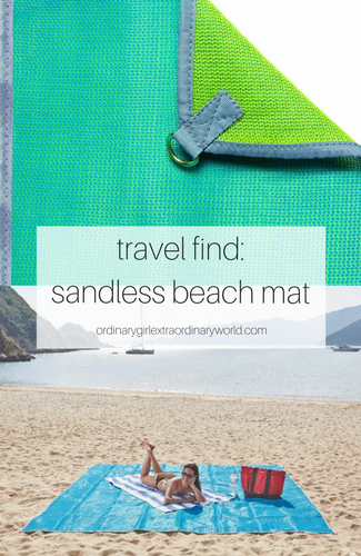 say goodbye to sand and dirt with this sandless mat! perfect for travel, the beach or camping!