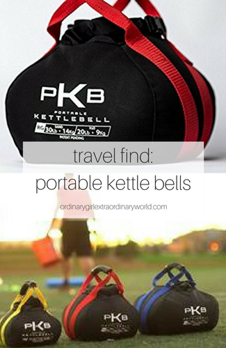 stay in shape when you travel with these portable kettle bells! your healthy travel habits will be the envy of everyone!