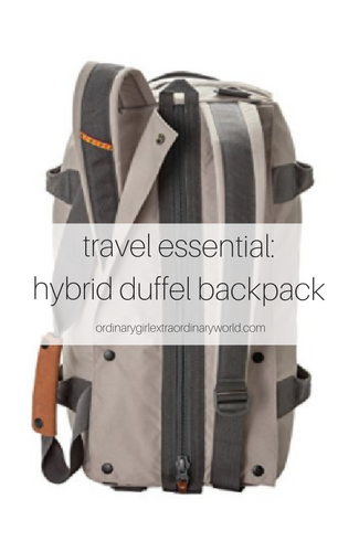 perfect for road trips or weekend getaways, you'll love this hybrid duffel backpack for your travel packing.
