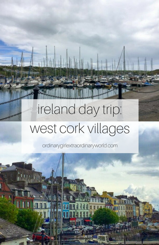 the villages west of cork are great day trip to take in Ireland! filled with cute harbor towns, good food, and bright storefronts, you can't go wrong!